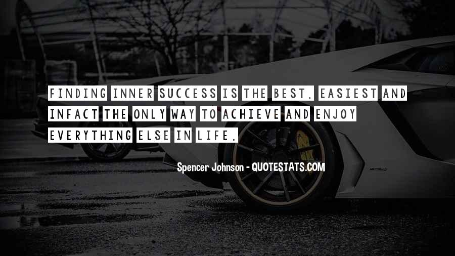 Way To Success In Life Quotes #1273205
