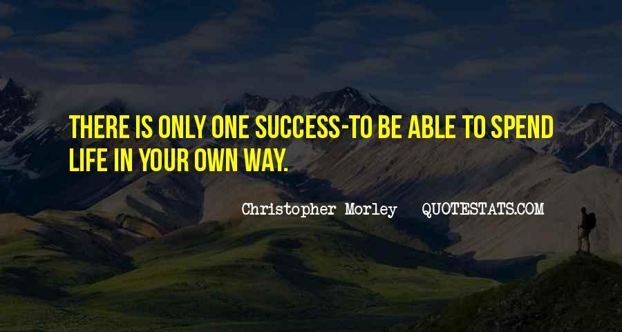 Way To Success In Life Quotes #1307414