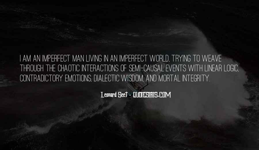 We Are All Imperfect Quotes #17371