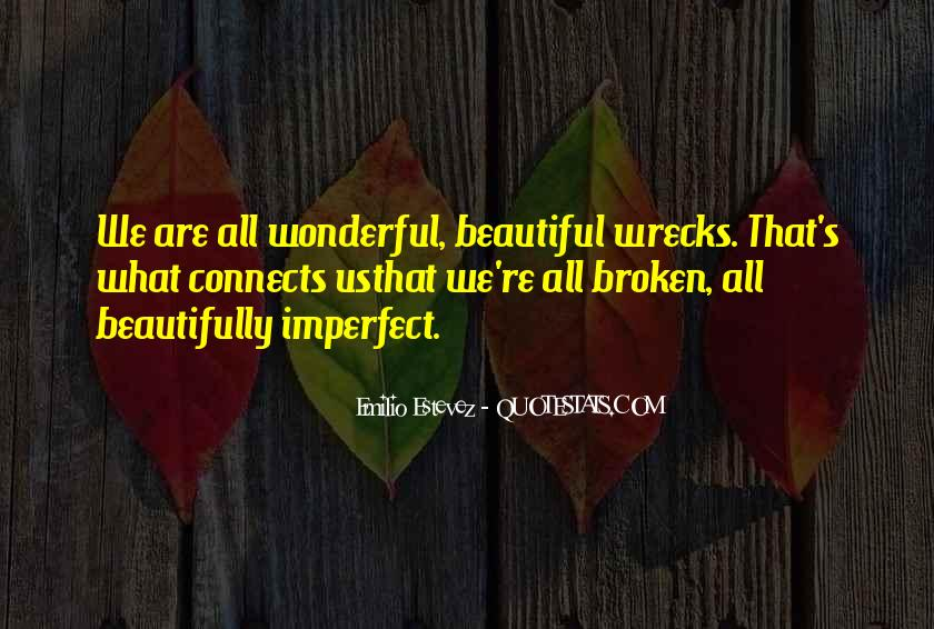 We Are All Imperfect Quotes #575788