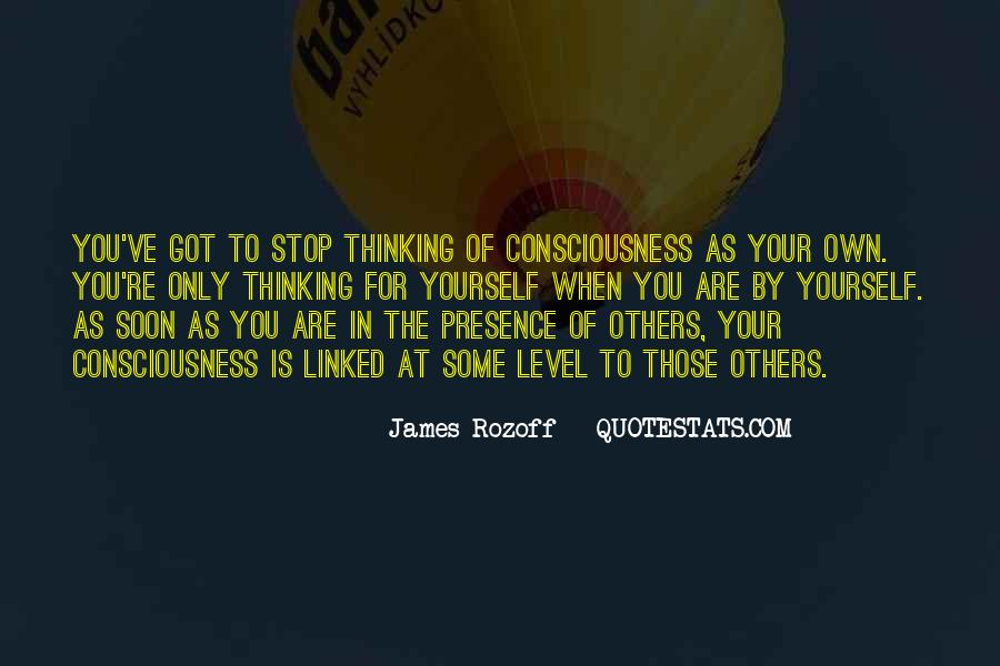 We Are All One Consciousness Quotes #15490