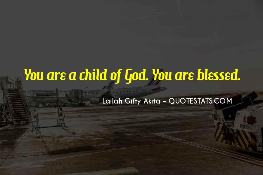 Quotes About Blessed Child #1312755