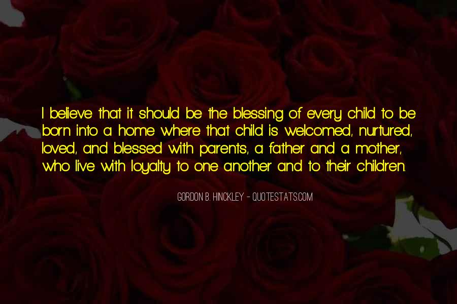 Quotes About Blessed Child #1669661