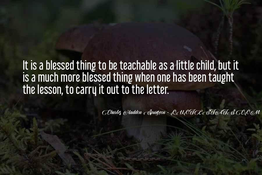 Quotes About Blessed Child #324798