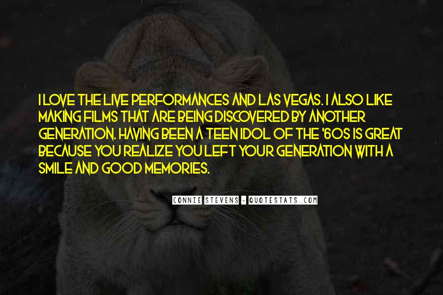 We Live In A Generation Quotes #42731