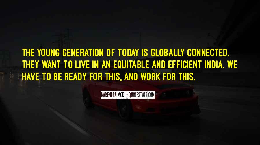 We Live In A Generation Quotes #918979