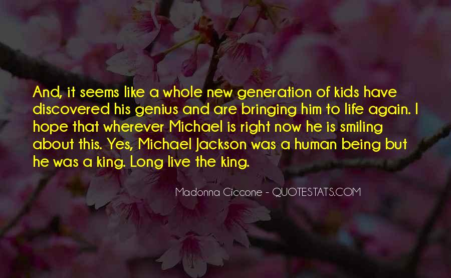 We Live In A Generation Quotes #958337