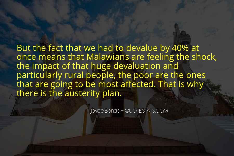 Quotes About Devaluation #170077