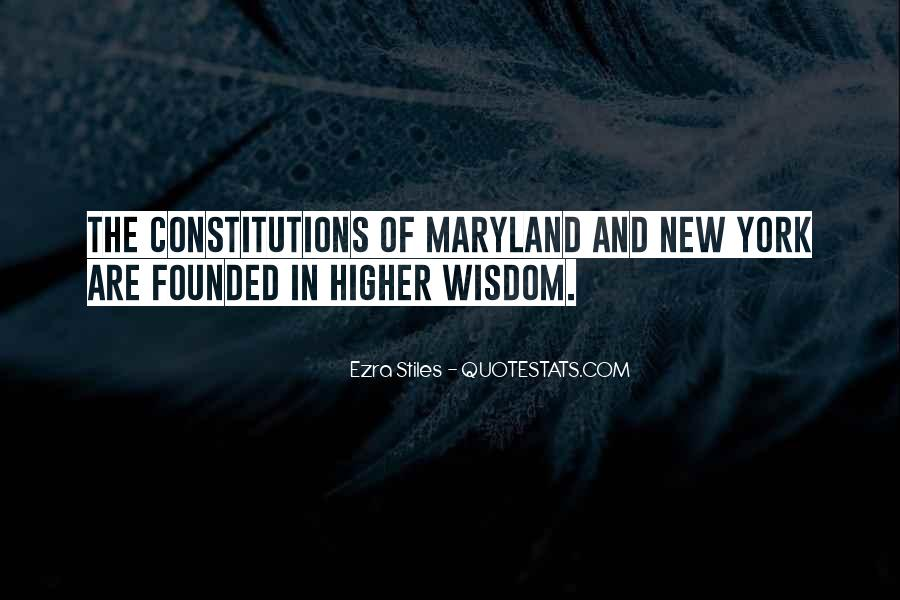 Quotes About Maryland #543433