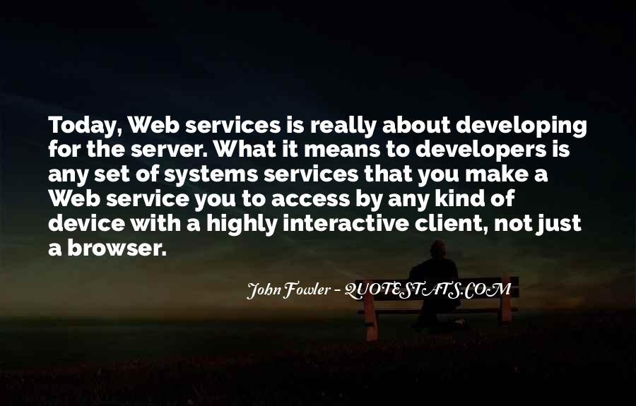 Web Services Quotes #488620