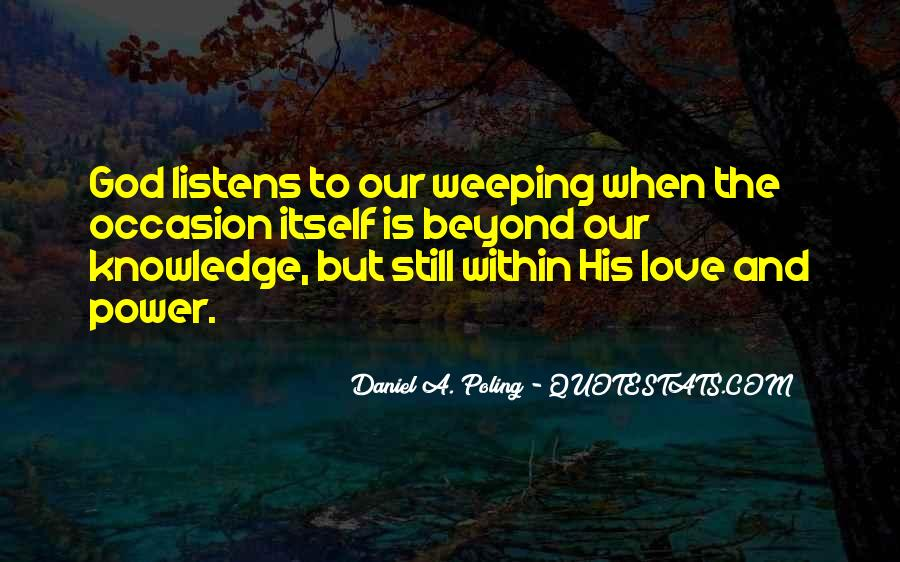 Weeping Love Quotes #756527