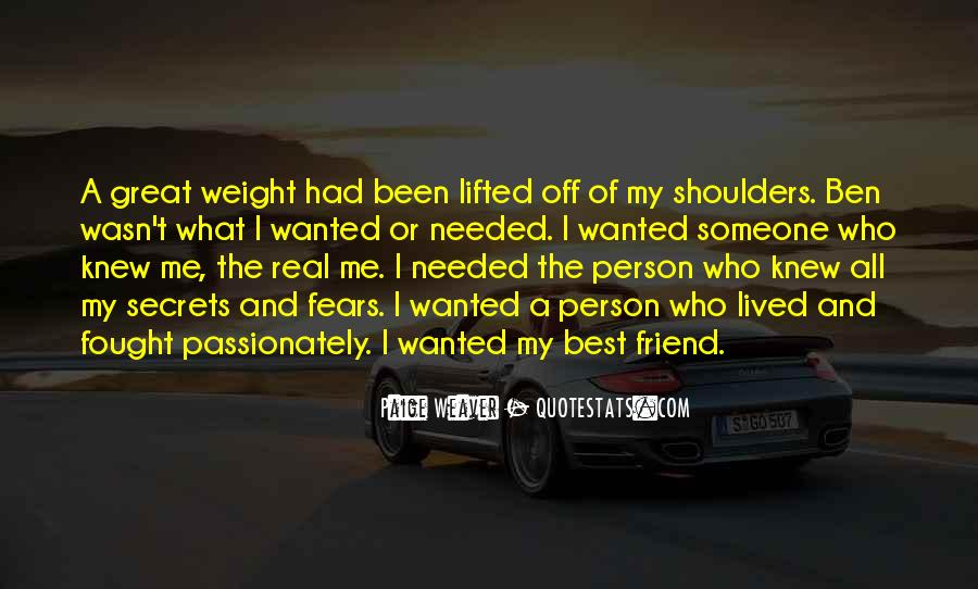 Weight On My Shoulders Quotes #1102238