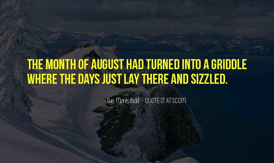 Welcome August Month Quotes #473600