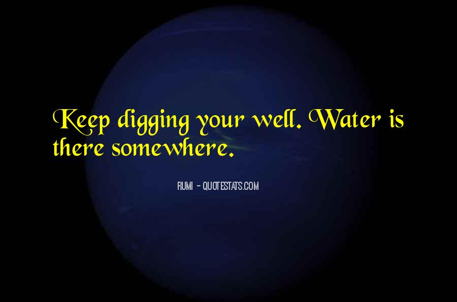 Well Digging Quotes #1584077