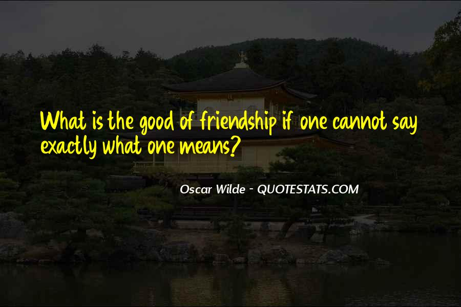 What Does Friendship Means Quotes #281392