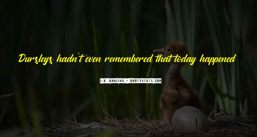 What Happened Today Quotes #985034