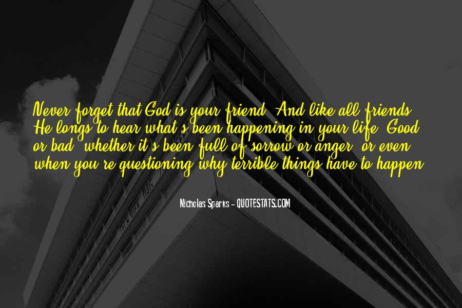 What Is A Bad Friend Quotes #191554