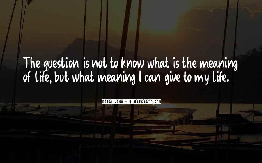What Is The Purpose Of Life Quotes #151924