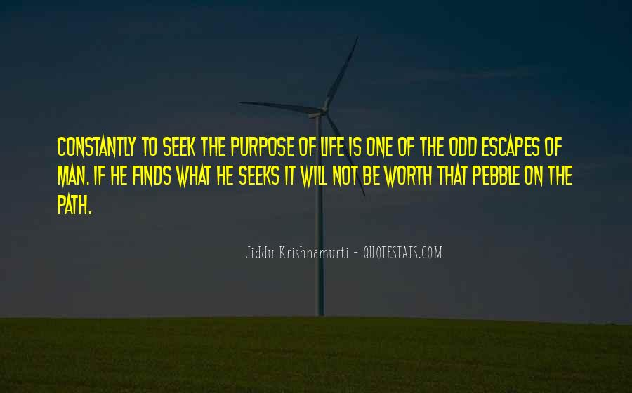 What Is The Purpose Of Life Quotes #95235