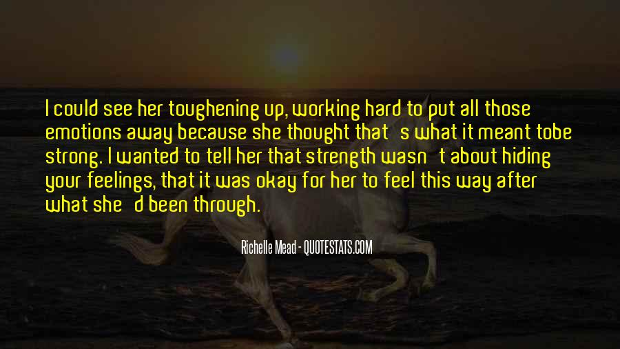 What She's Been Through Quotes #243998