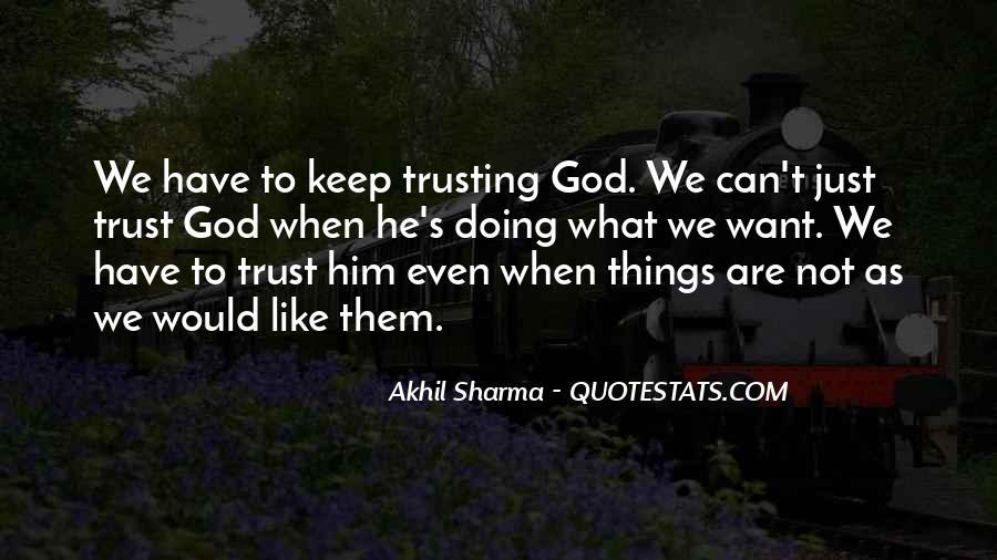 What's Trust Quotes #314263