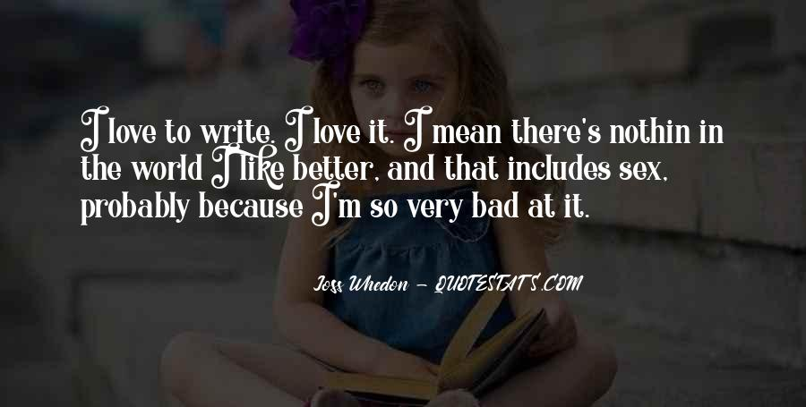 Whedon Love Quotes #279334