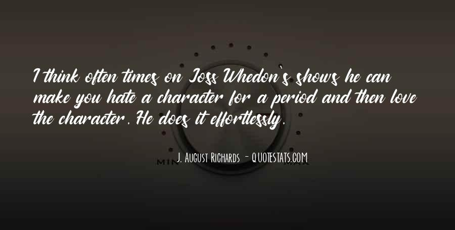 Whedon Love Quotes #469230