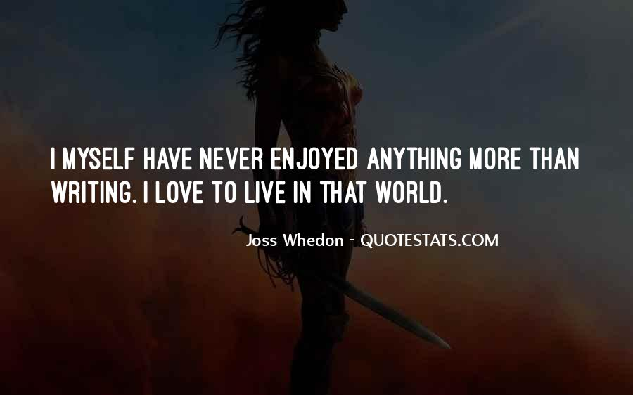 Whedon Love Quotes #999128