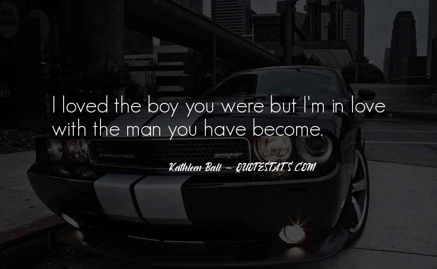 When Does A Boy Become A Man Quotes #1009692