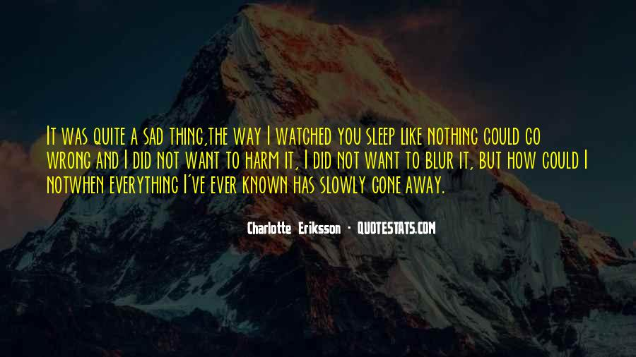 When I'm Gone Sad Quotes #496253