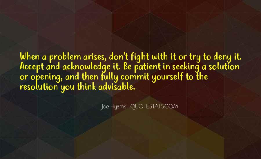 When Problem Arises Quotes #1422058