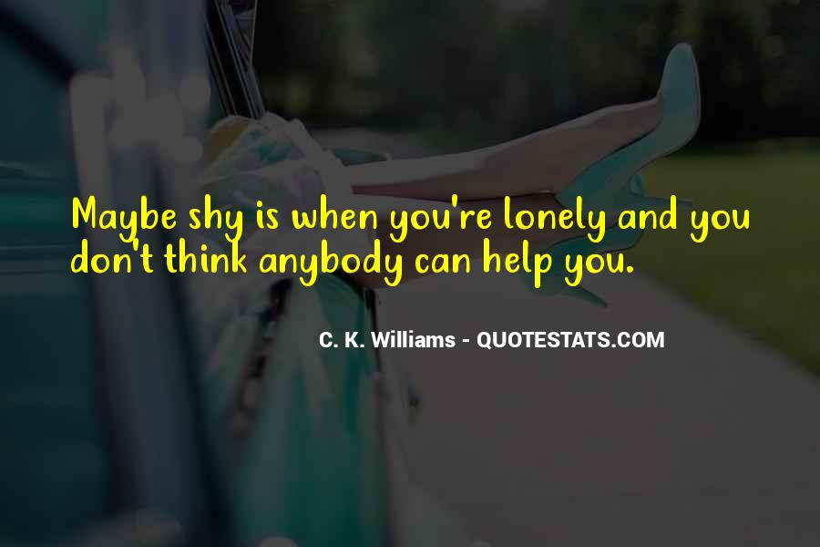 When You're Lonely Quotes #1868258