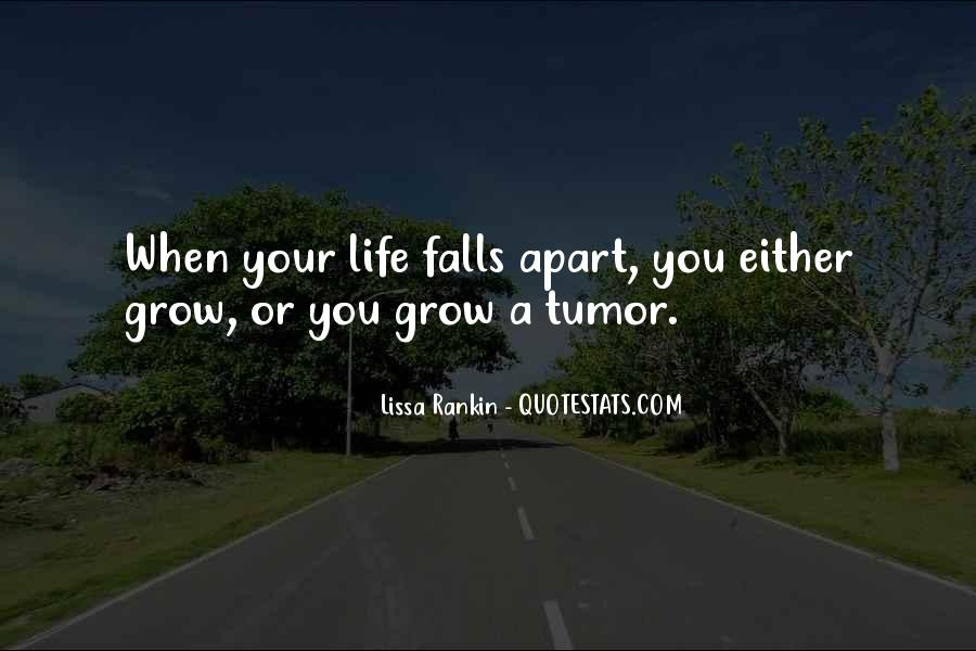 When Your Whole Life Falls Apart Quotes #1293213
