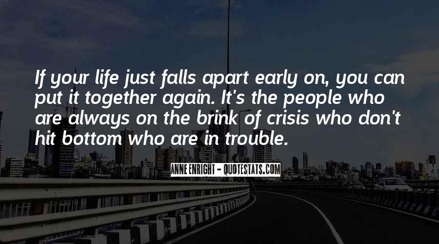 When Your Whole Life Falls Apart Quotes #1353547