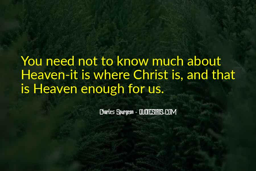 Where Is Heaven Quotes #108054