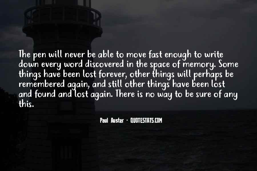 Quotes About There Is No Forever #615904