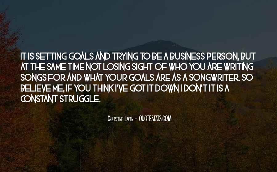 Quotes About Setting Business Goals #574103