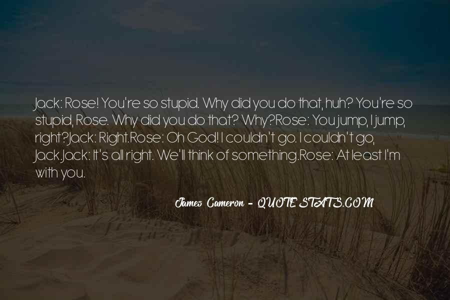 Why Did You Do It Quotes #1618420