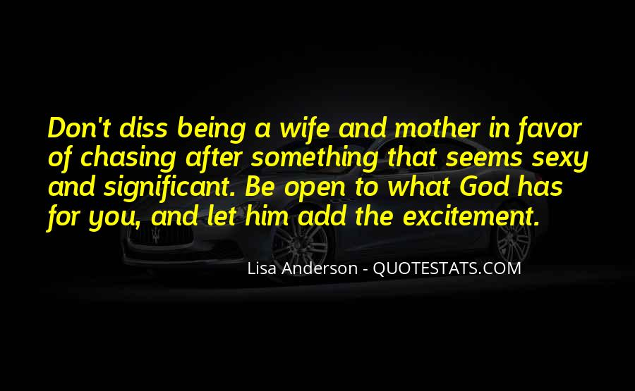 Wife After God Quotes #1830325