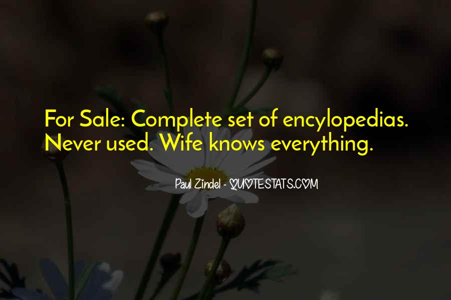 Wife Knows Best Quotes #26845