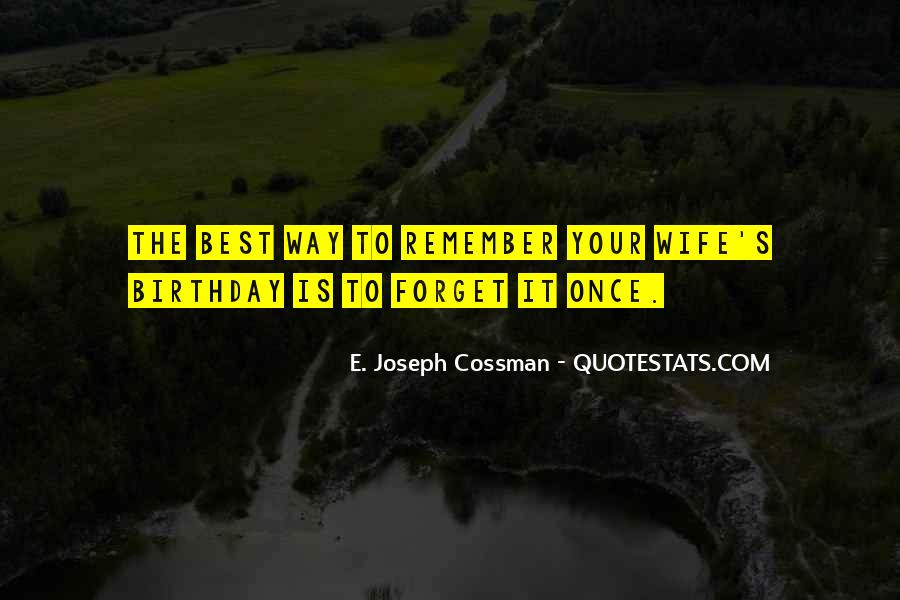 Wife's Birthday Quotes #1578747