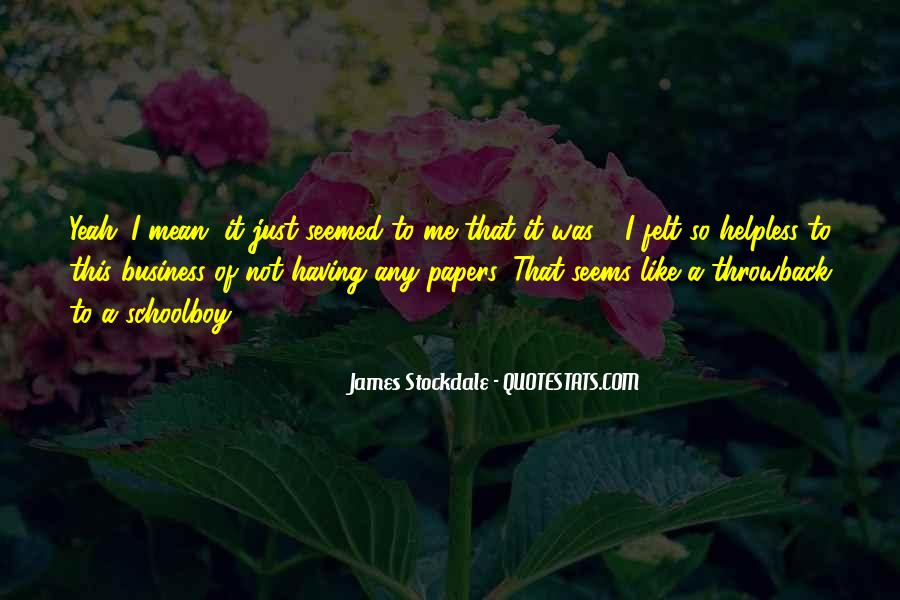 Will Stockdale Quotes #140002