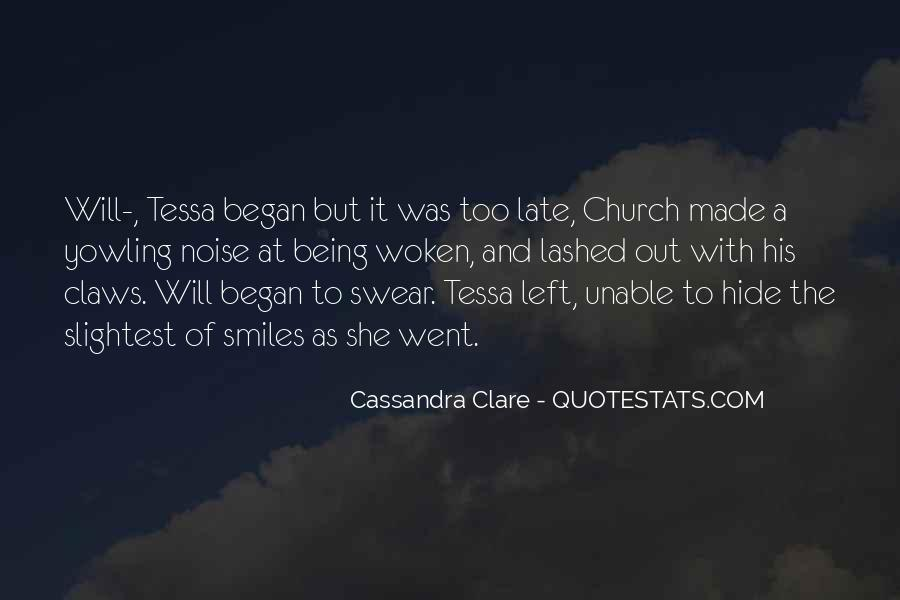 Will To Tessa Quotes #351898