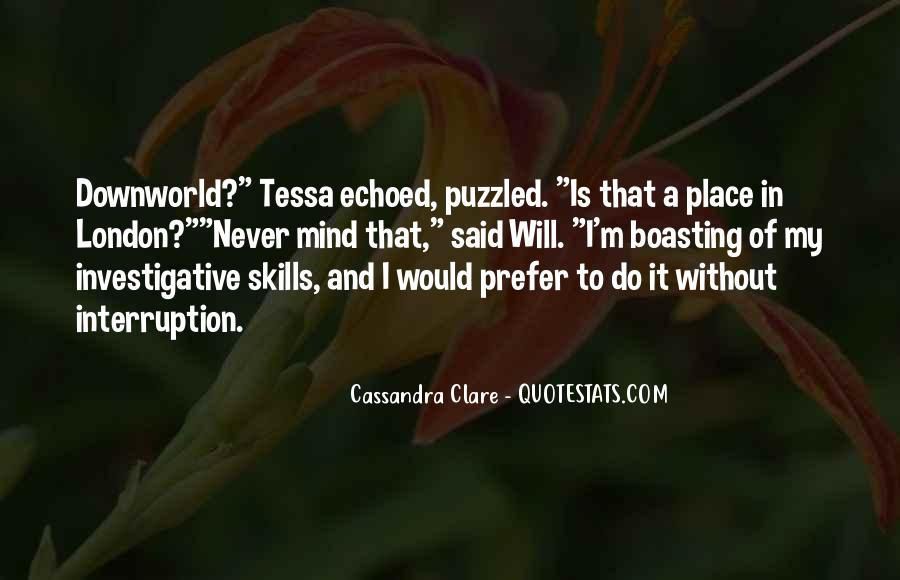 Will To Tessa Quotes #456776