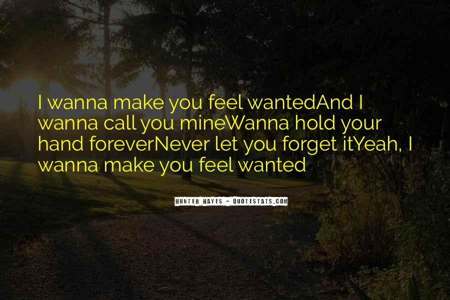 Will You Hold My Hand Forever Quotes #593171