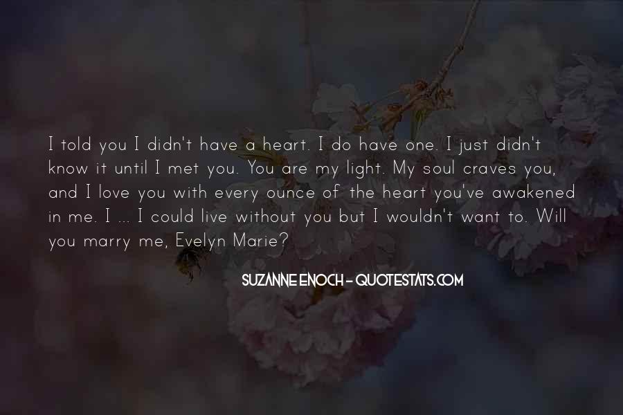 Will You Marry Me Love Quotes #1677978