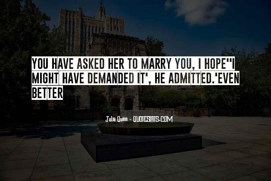 Will You Marry Me Love Quotes #69070