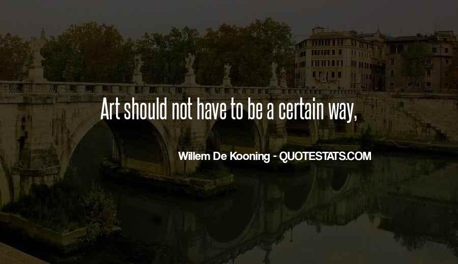 Willem Kooning Quotes #241652