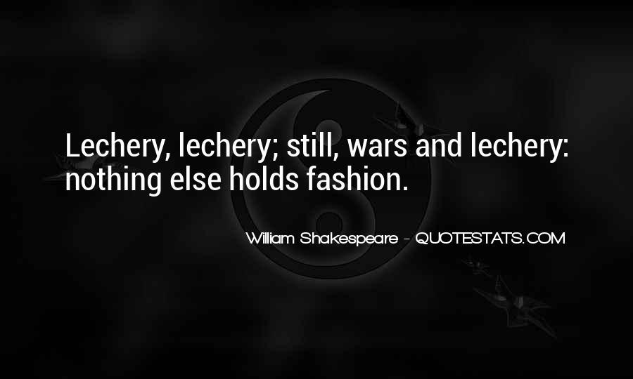 William Shakespeare Fashion Quotes #1336429