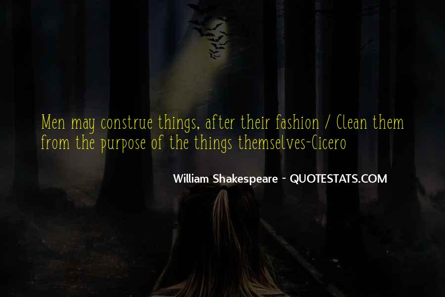 William Shakespeare Fashion Quotes #1831980